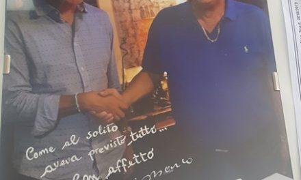 PIANESE, IL RINGRAZIAMENTO DI MISTER MARCO MASI AL PRESIDENTE MAURIZIO SANI